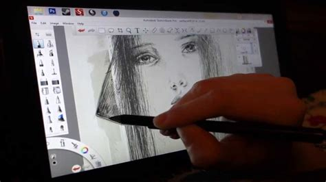 Sketchbook Pro on the Surface Pro - YouTube