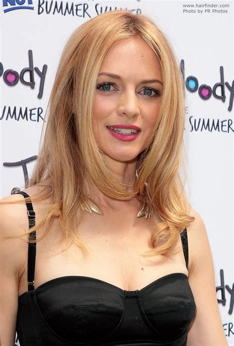 Heather Graham | Long hairstyle for fine blonde hair with