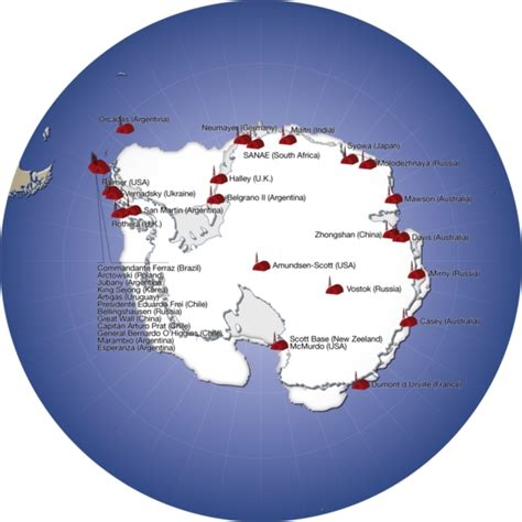 Major research stations in Antarctica | GRID-Arendal