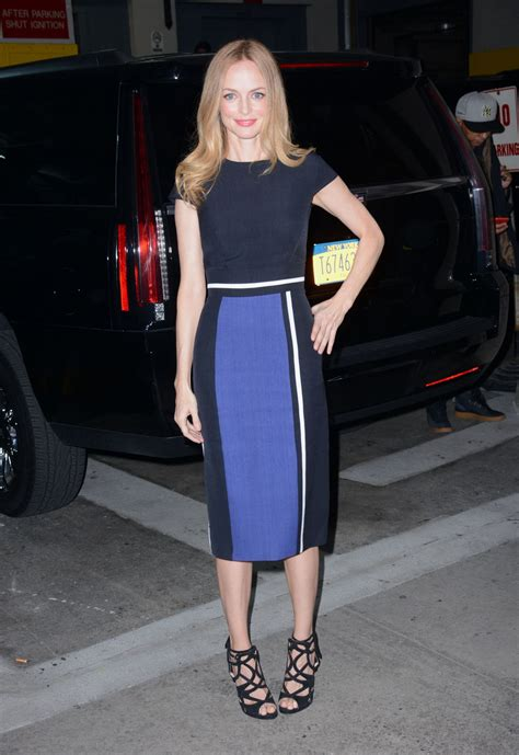 Heather Graham Fashion - at 'AOL Build' in NYC 1/12/2016